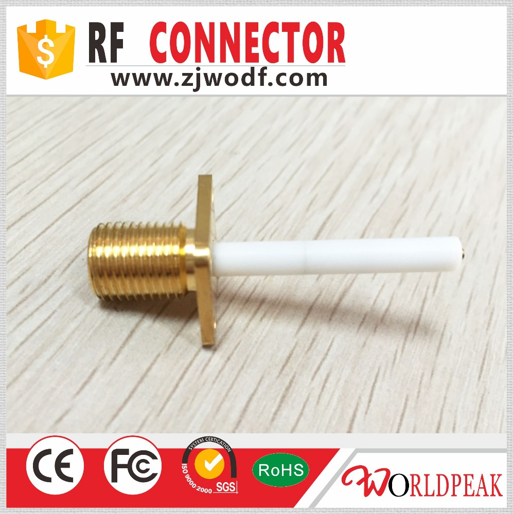 SMA connector jack b_h 4 hole flange microstrip rf connector tv
