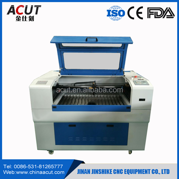 6090 desktop co2 cnc laser cutting/engraving machine with CE certification and high precision