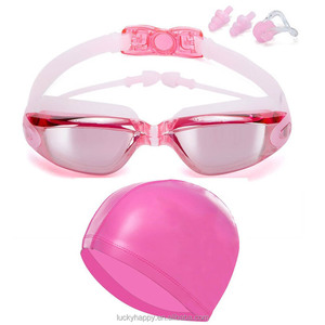 Water sports pvc silicone swimming goggles and earplugs