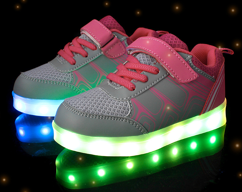 factory Kids Light Flashing Sneakers Led Shoes Adult Roller Shoes With Lights