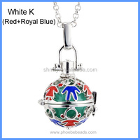 Wholesale Men And Women Cute Cartoon Enamel Musical Sound Chime Bell Box Ball Pregnancy Necklaces BAC-M038