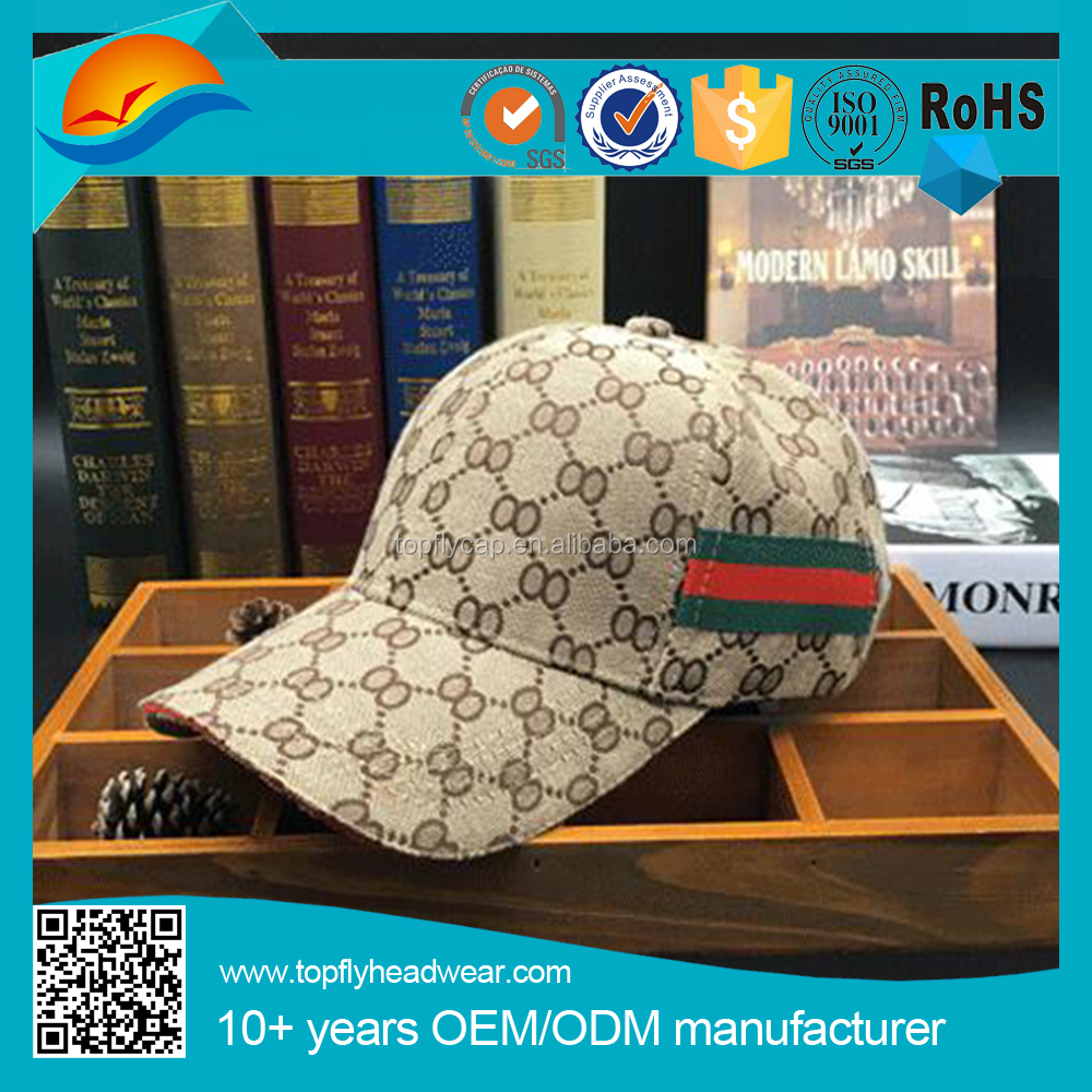 Branded Checked baseball cap blank baseball cap with 6 panel