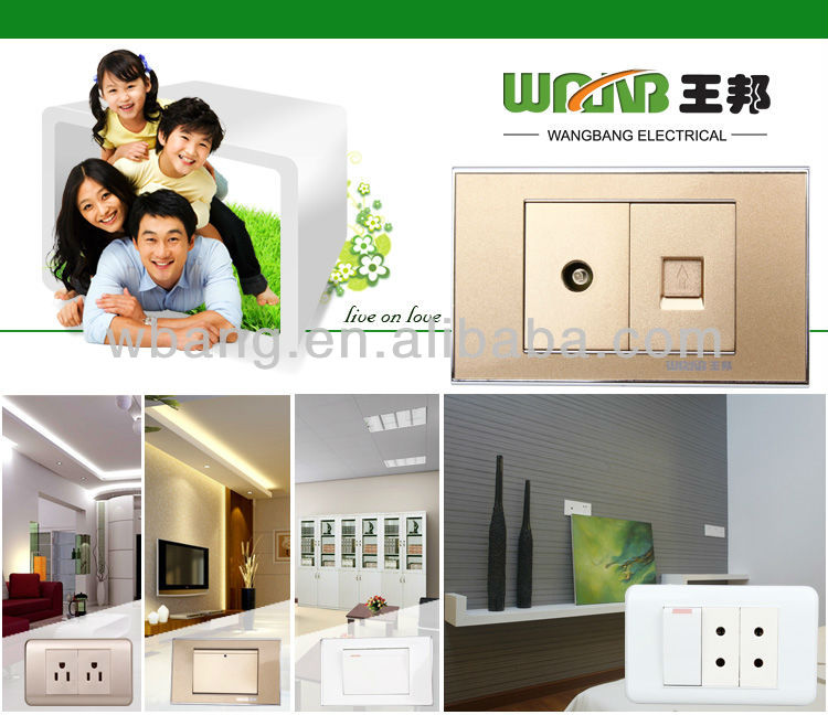 2018 Hot Selling Different Types White Pakistan Wall Switch Socket two pin socket