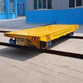 Motorized Transfer Cart For Handling Material Rail Trolley Handling Railer