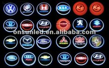 A new one auto laser light , led logo laser light at the auto doors laser brand logo show system