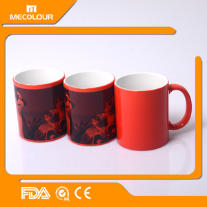 hot sale new product top quality 11OZ sublimation photo color magic mug/hot cold water color changing coffee mug