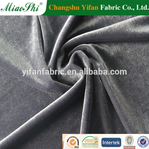 2014 Hot Sell 95% Polyester 5% Spandex Plain Dyed Super Poly KS Velvet/3-crown velvet