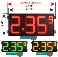 10inch LED digital gas price display sign