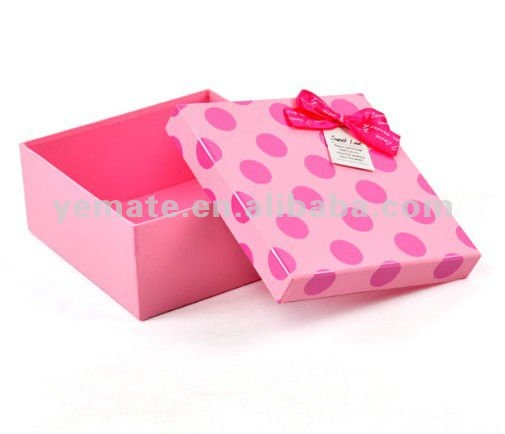 2012 wedding pink dots packaging gift box for wedding&gift, new design pretty gift boxes for sale