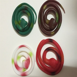 Promotional Lifelike Stimulus Rubber Toy Animals Safety Soft Rubber Snakes Kid Toy