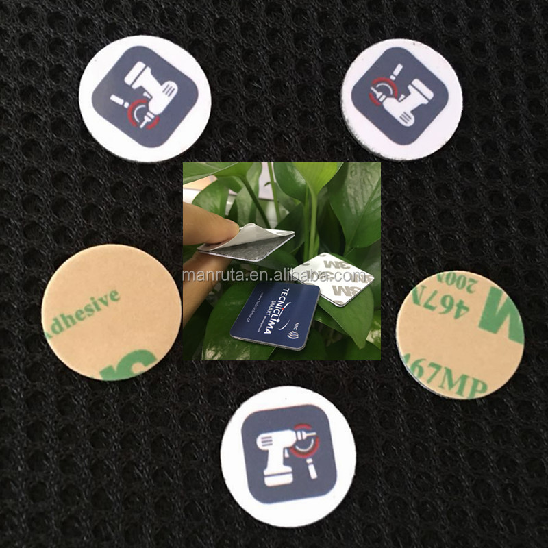 manufacture rfid anti metal rfid asset nfc tag with 3M for mobile  sticker outdoor waterproof