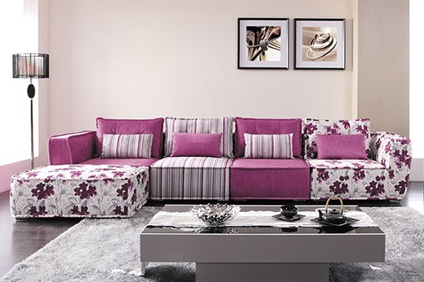 Sublimated fabric sofa
