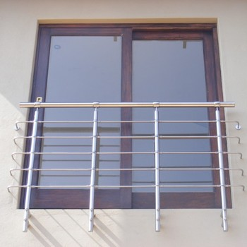 Iron Window Grill Design Handrail Stainless Steel Rod Railing For