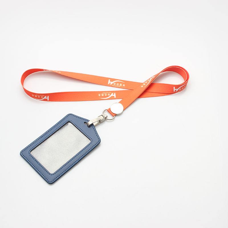New product sublimation animal print keychain custom logo for ID card lanyards