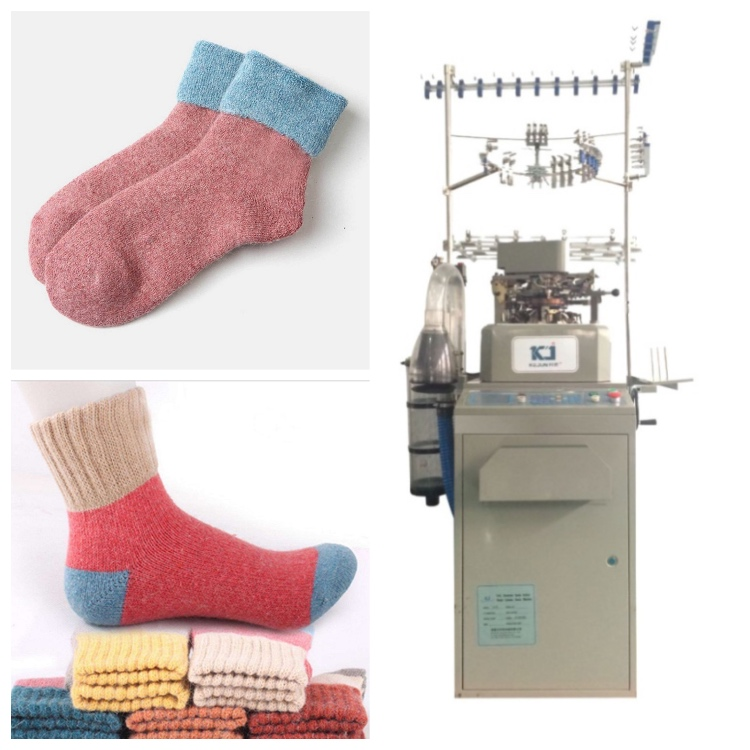 Full Computerized Selected Terry Jacquard Socks Knitting Machine needles automatic
