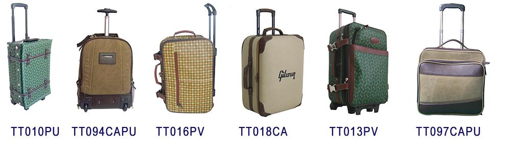 Leinwand leder vintage koffer reisen luggageTrunk Retro trolley klassische gepäck