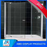 2017 durable transparent acrylic shower door for hotel & home