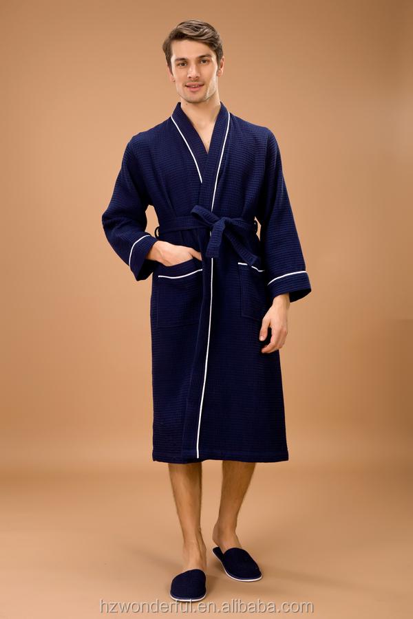 latest collection retro shop for genuine New Men Navy Blue Cotton Bathrobe - Buy Blue Cotton Bathrobe,Cotton  Bathrobe,Blue Bathrobe Product on Alibaba.com