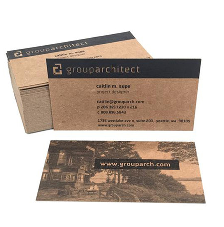 Company information custom design kraft paper business card <strong>printing</strong>