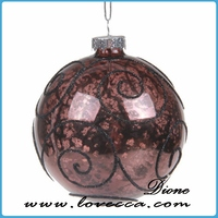 market trend designs wholesale glass ball ornament with bead decoration
