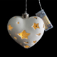 8L Warm White Led Porcelain Heart Motif Light Wedding Thank You Gifts for Guests