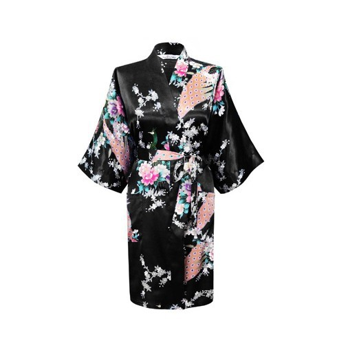2015 Silk Kimono Robe Bathrobe Women Satin Robe Robe Longue Femme For Women Night Sexy Robes