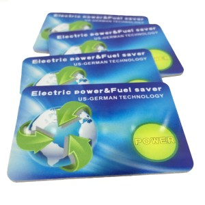 Custom Negative Ion Fuel Saving PVC Energy Saver Power Card