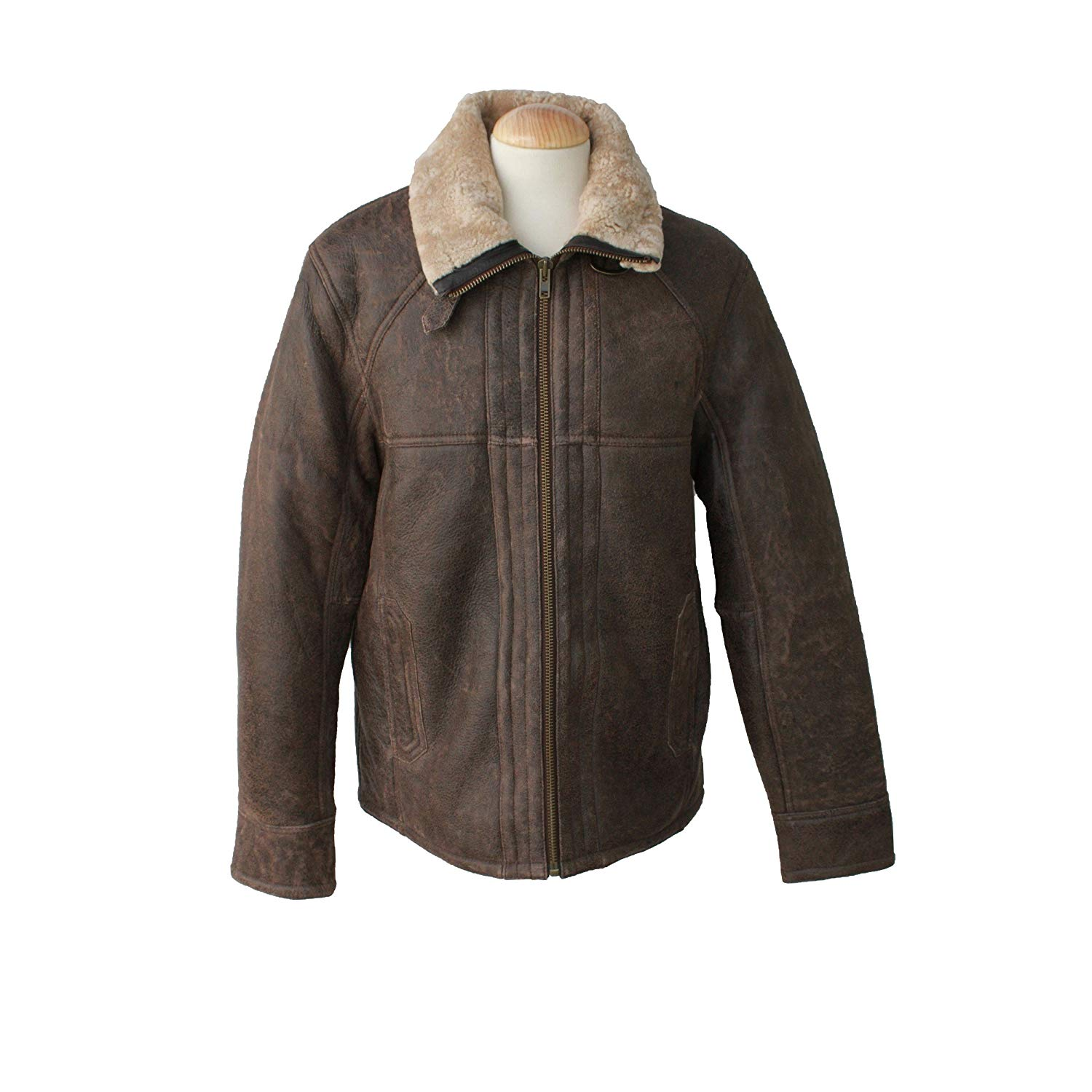 Get Quotations · Eastern Counties Leather Mens Dean Sheepskin Aviator Jacket a0a497e5a764
