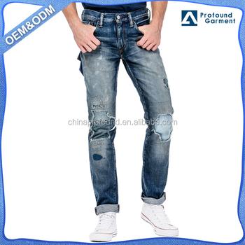 862c0de467417 Guangzhou moda modelo comprar parche vaqueros hombres 2016 pantalones de  mezclilla en precio al por mayor