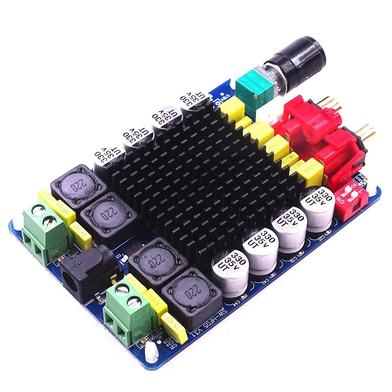 Mustwell 12V 24V TDA7498 Class D 2X100W Dual Channel Audio Stereo Digital Amplifier Board
