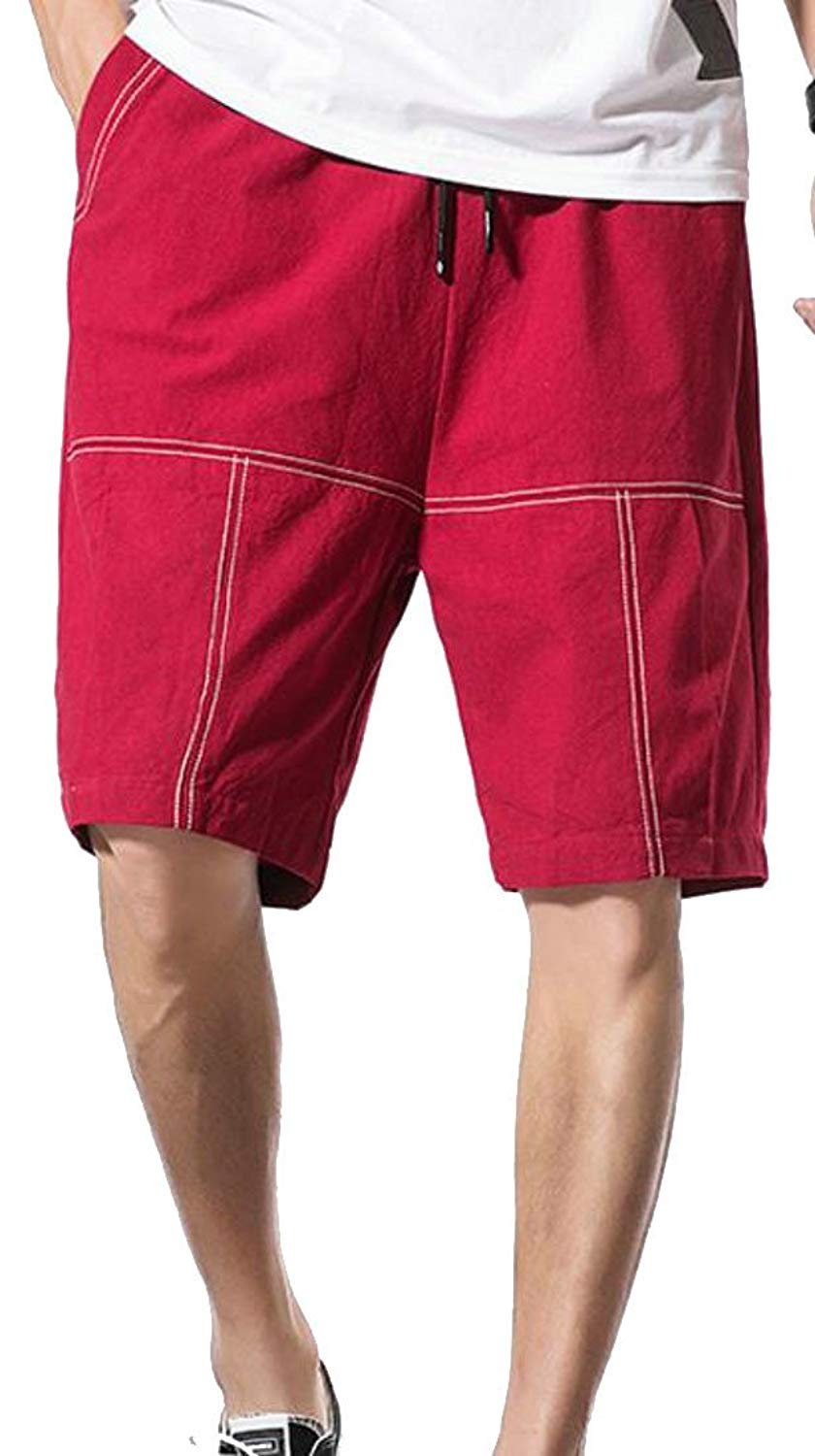 bf10cae895 Get Quotations · goldenharvest GH Mens Baggy Waist Drawstring Baggy Sport  Short Pants Beach Board Shorts