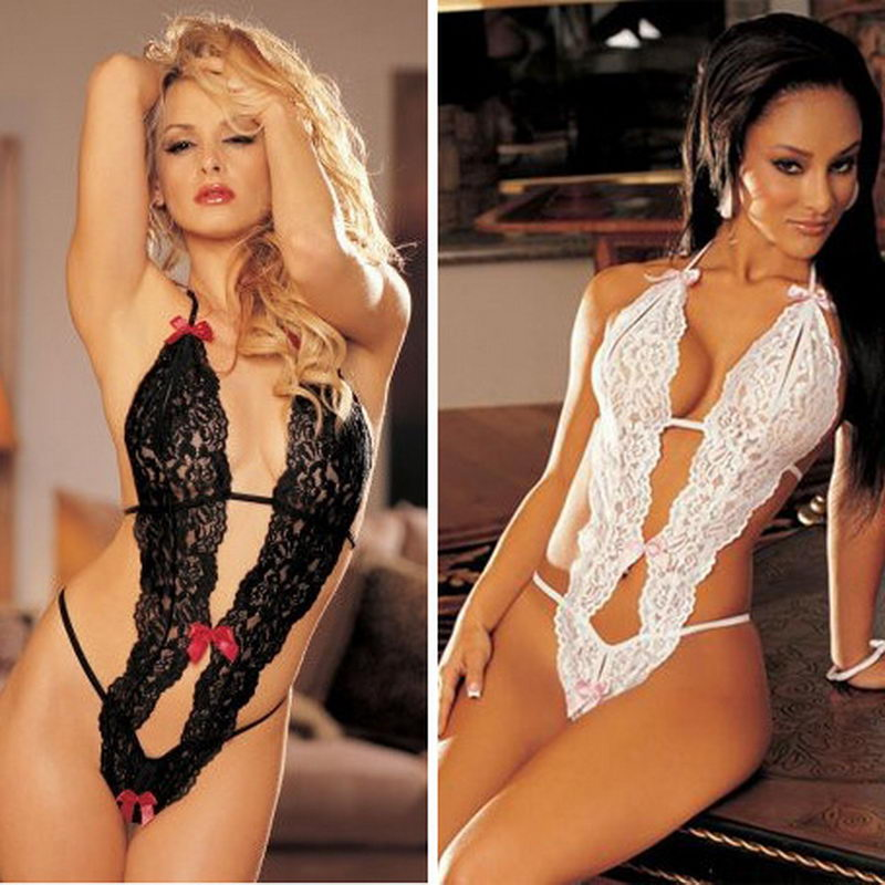 Hot Sale Sex Products Sexy Costumes Women Underwear Lady Lingerie  Transparent Conjoined Dress Suit Leotard Intimates 5ce8ffb8f9