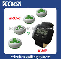 Bar or Restaurant supplies with watch sounds and push button buzzers