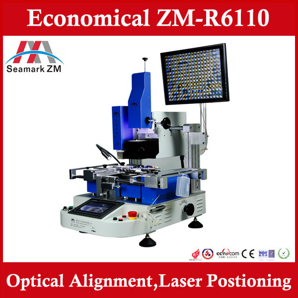 Most Economical bga smd repair machine ZM R6110 with optical alignment and laser positioning ,upgrade from ZM-R6808