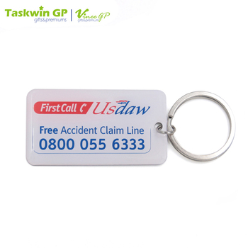 Cheap custom design stainless steel printed metal key chain