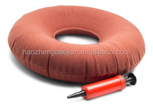 15''&18'' Promotion Products Inflatable Medical Nylon PVC Ring Donut Cushion With Air Pump