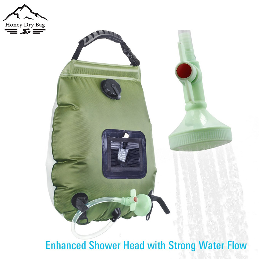 Ouspots Shower Pipe Bag Solar Energy Heated Portable Shower Pvc