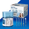 Changeable head high volume oral irrigator tooth cleaner
