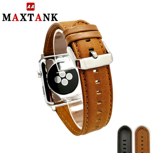 best selling crazy horse pull up leather watch strap for apple watch