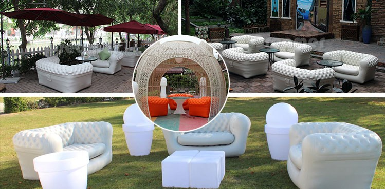 2017 Top Selling white lounger sleeping corner camping relax giant chesterfield air cheap outdoor inflatable sofa