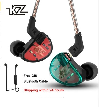 Wired 3.5mm Earphone KZ AS10 Headphones 5BA Balanced Armature Driver HIFI Bass Earphones In Ear Sport Headset Noise Cancelling.
