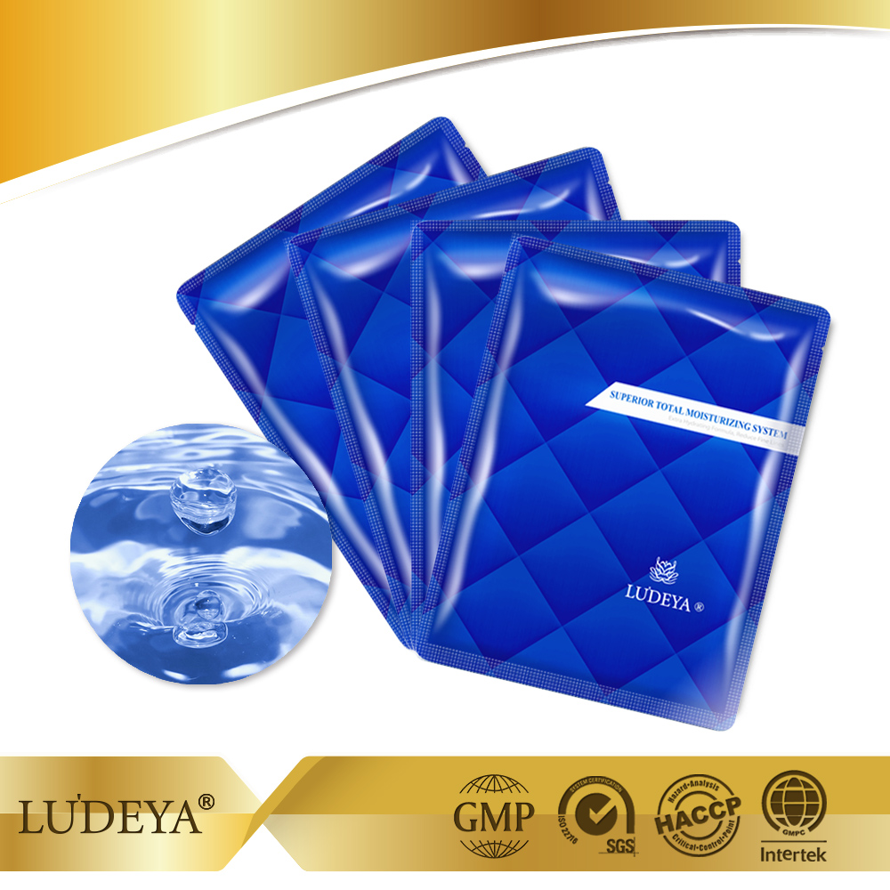 Low MOQ Wholesale Taiwan LUDEYA Hyaluronic acid Hydrating Bio Cellulose Facial Mask