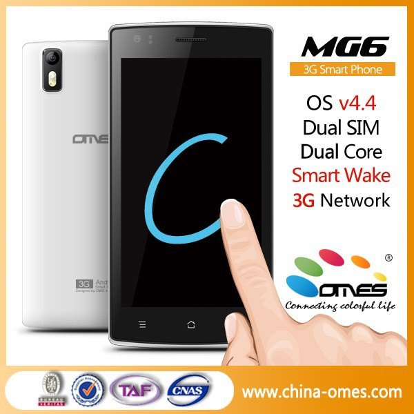 Double Tap to wake up screen ! OMES MG6 5 inch IPS MTK6582 Quad Core 5MP android 4.4 kitkat 3G 1g ram smart phone