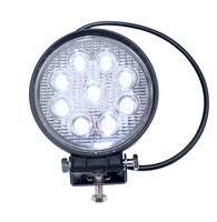 truck round off road flood 27w led work light for car