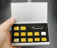 2017 new 13 Slots Aluminum Box Storage Case for Nano Sim Card and Pin Sim Card Memory Cards Holder