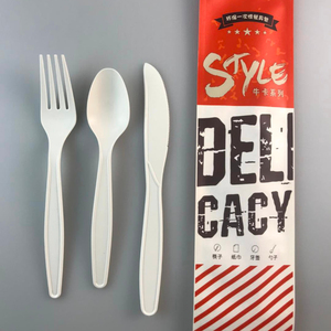 Disposable Dinnerware cutlery set cornstarch table utensils cornstarch cutlery pack biodegradable