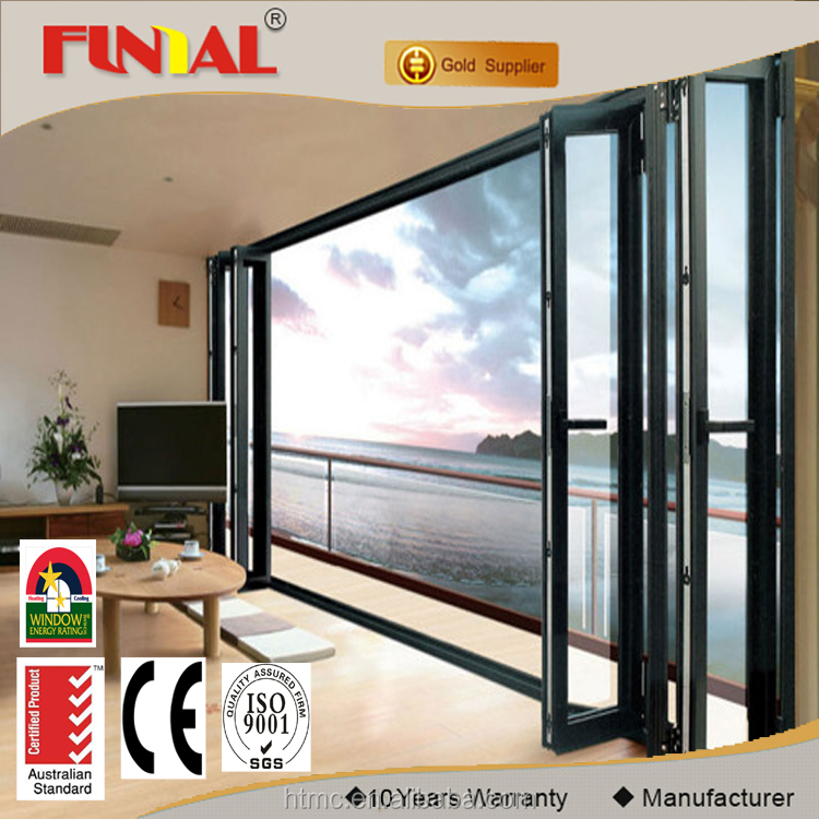 Personalizado exterior puerta plegable de aleaci n de - Puerta plegable de aluminio ...