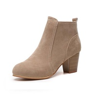 2018 cheap suede boots for women winter short retro ankle boots shoes