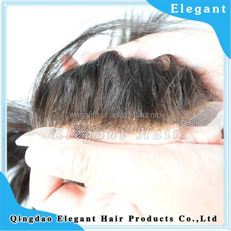 super fine swiss lace bleached knots men hair replacement systems