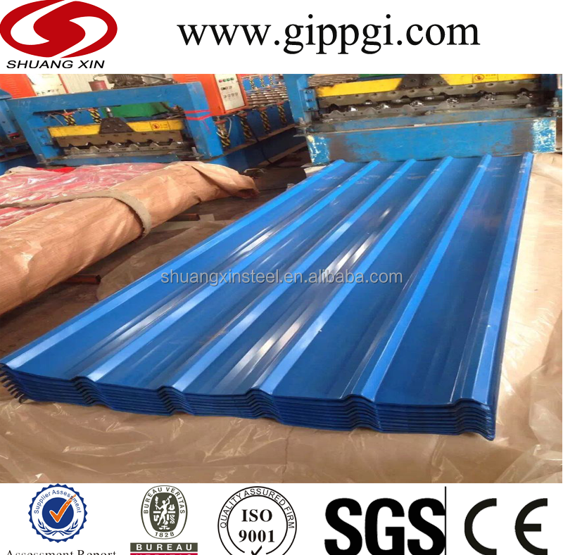 Construction workshop zinc roof /color roof sheet price nippon paint